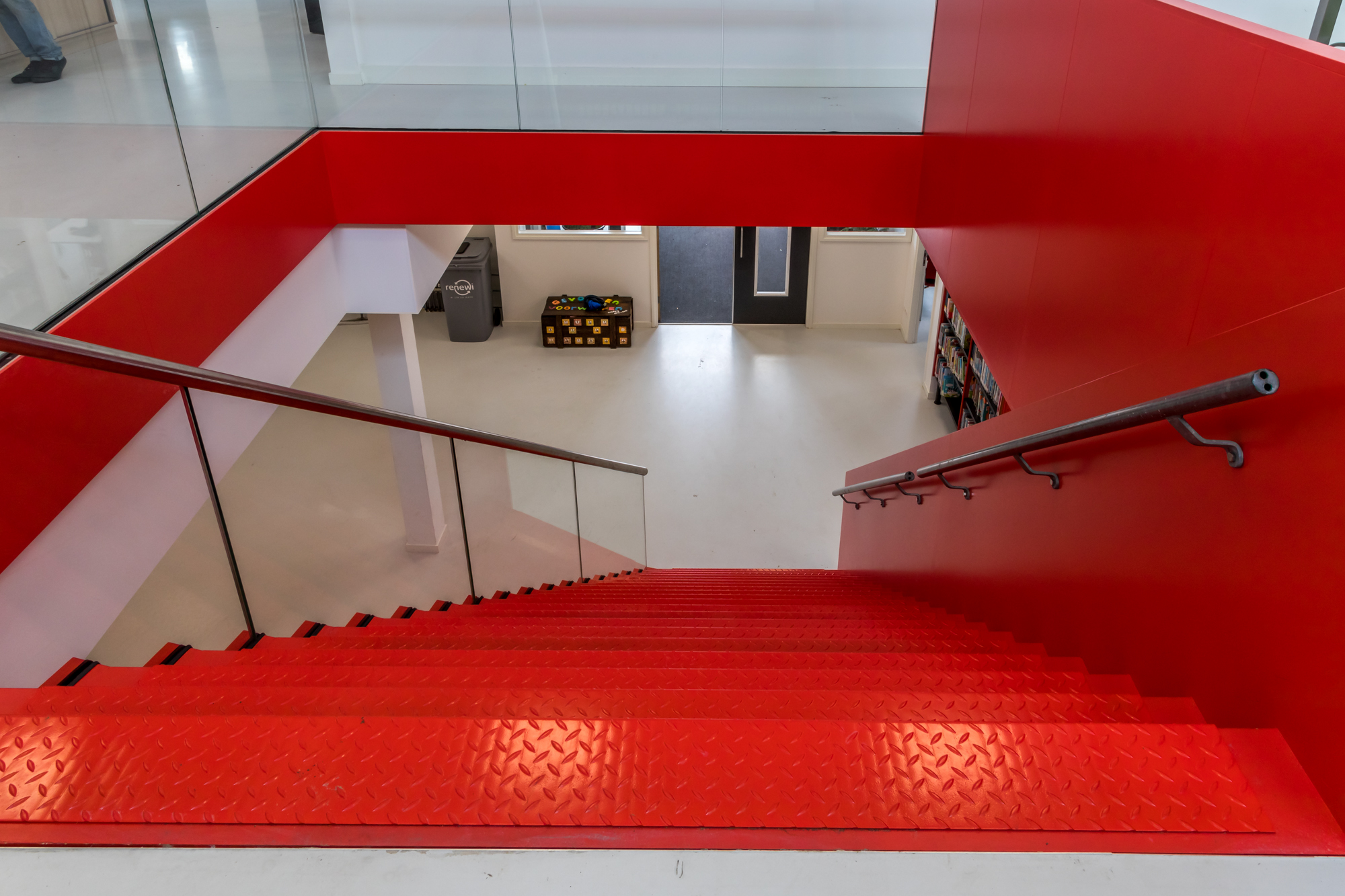 Red lacquered staircase