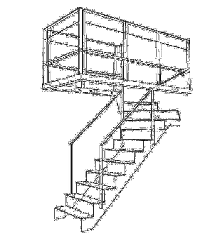 Moderne trap met glas en staal