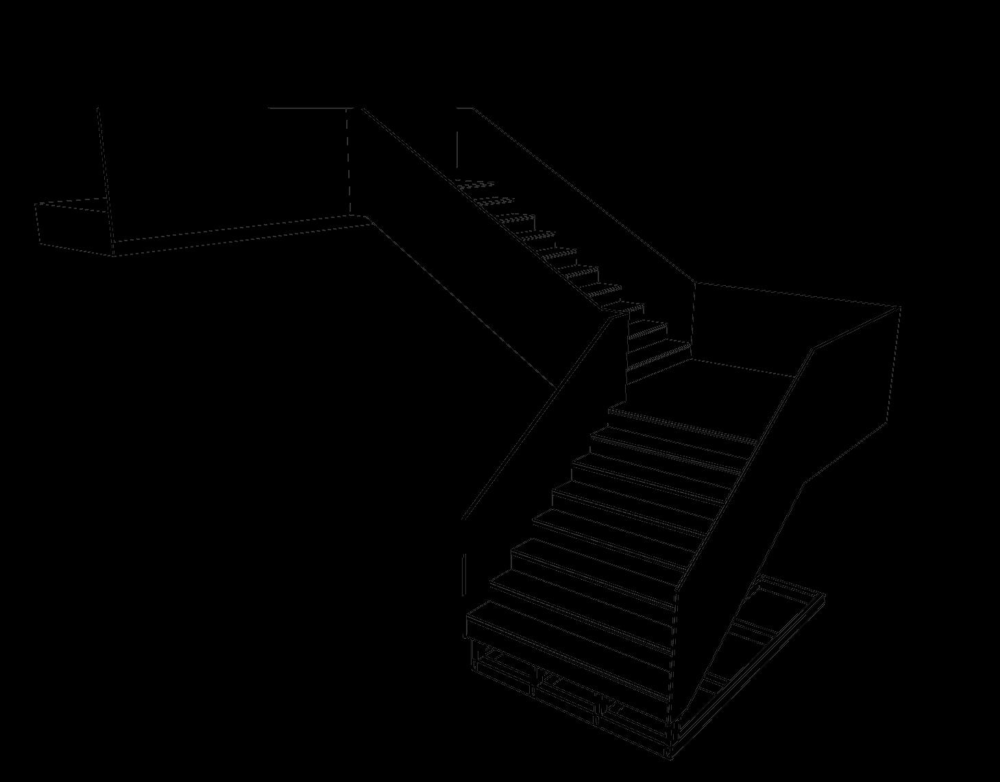 Steel stairs hotel