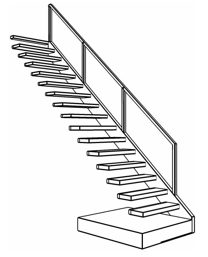 Zwevende trap loft amsterdam