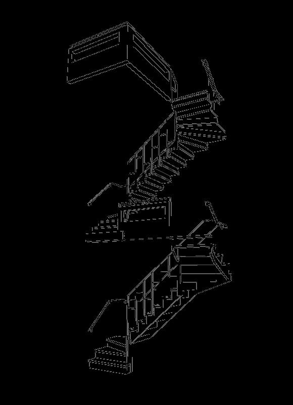 Z-trap met stalen hekwerk