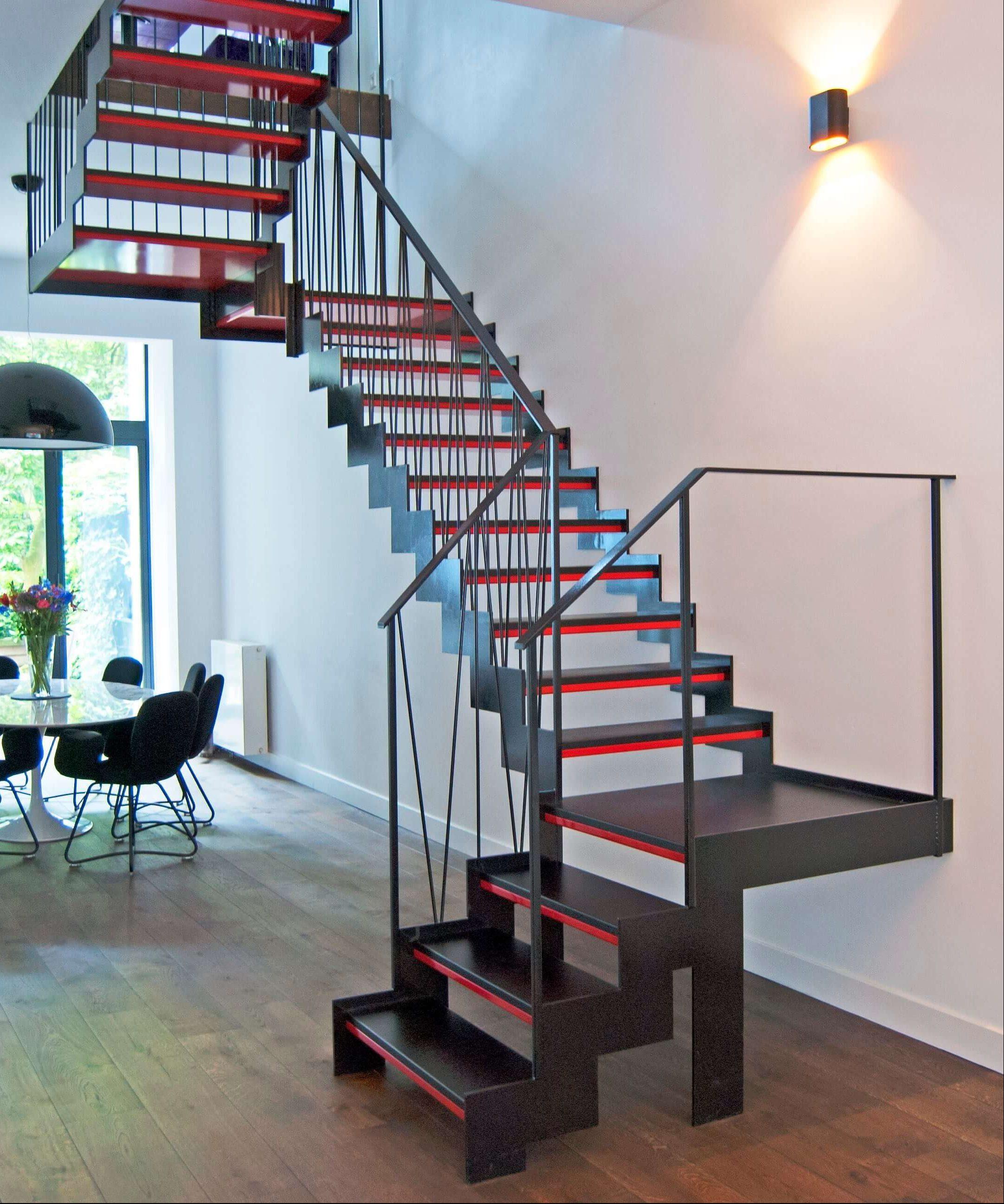 Modern stairs steel