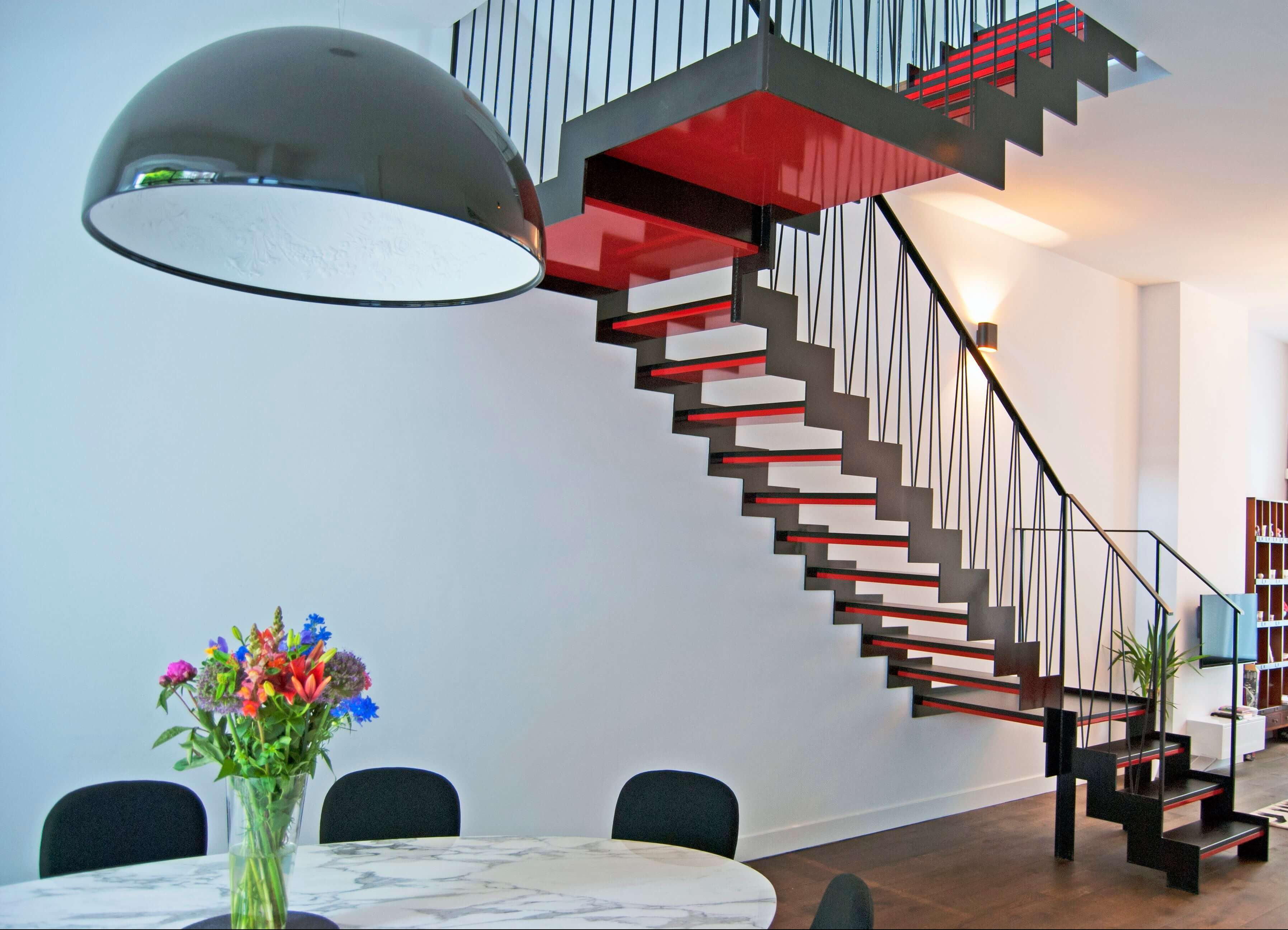 Louboutin inspired staircase