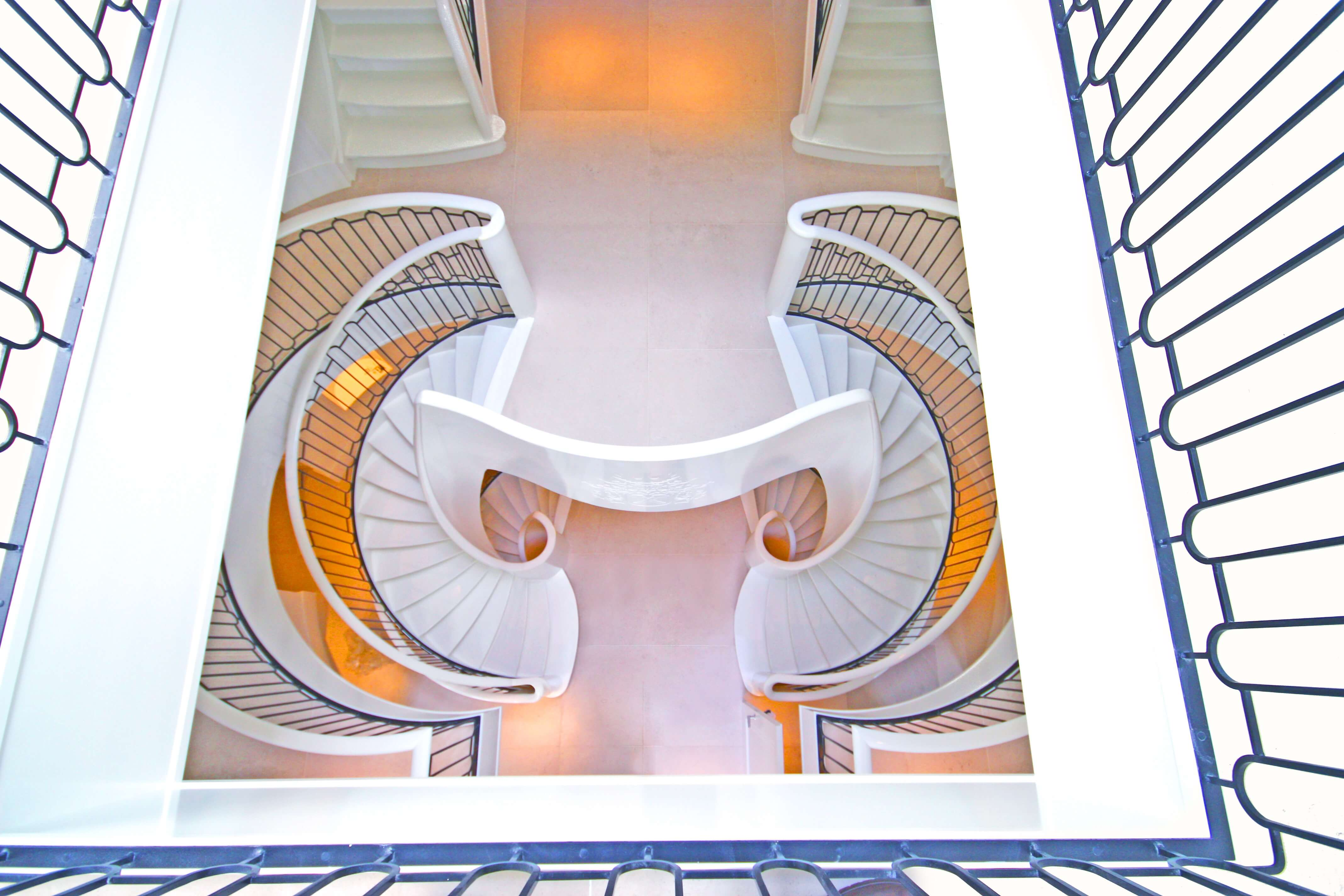 9 spiral stairs