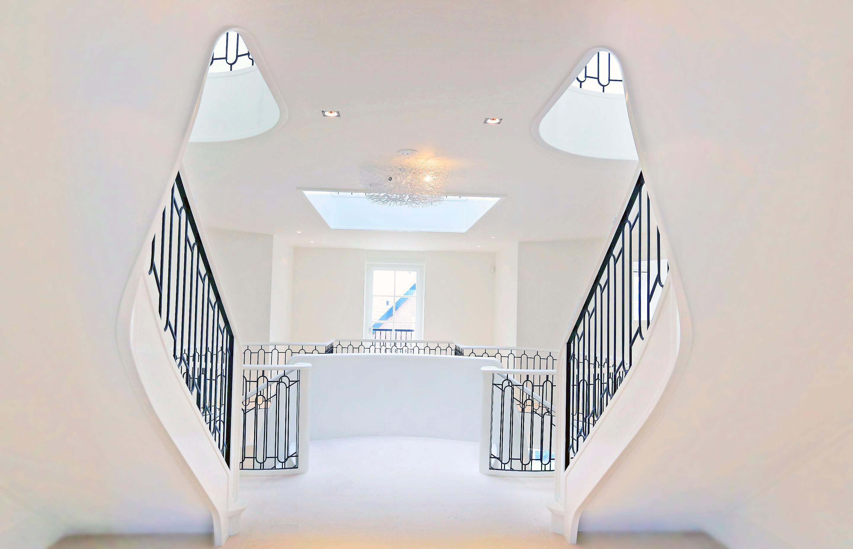 Spiral stairs villa