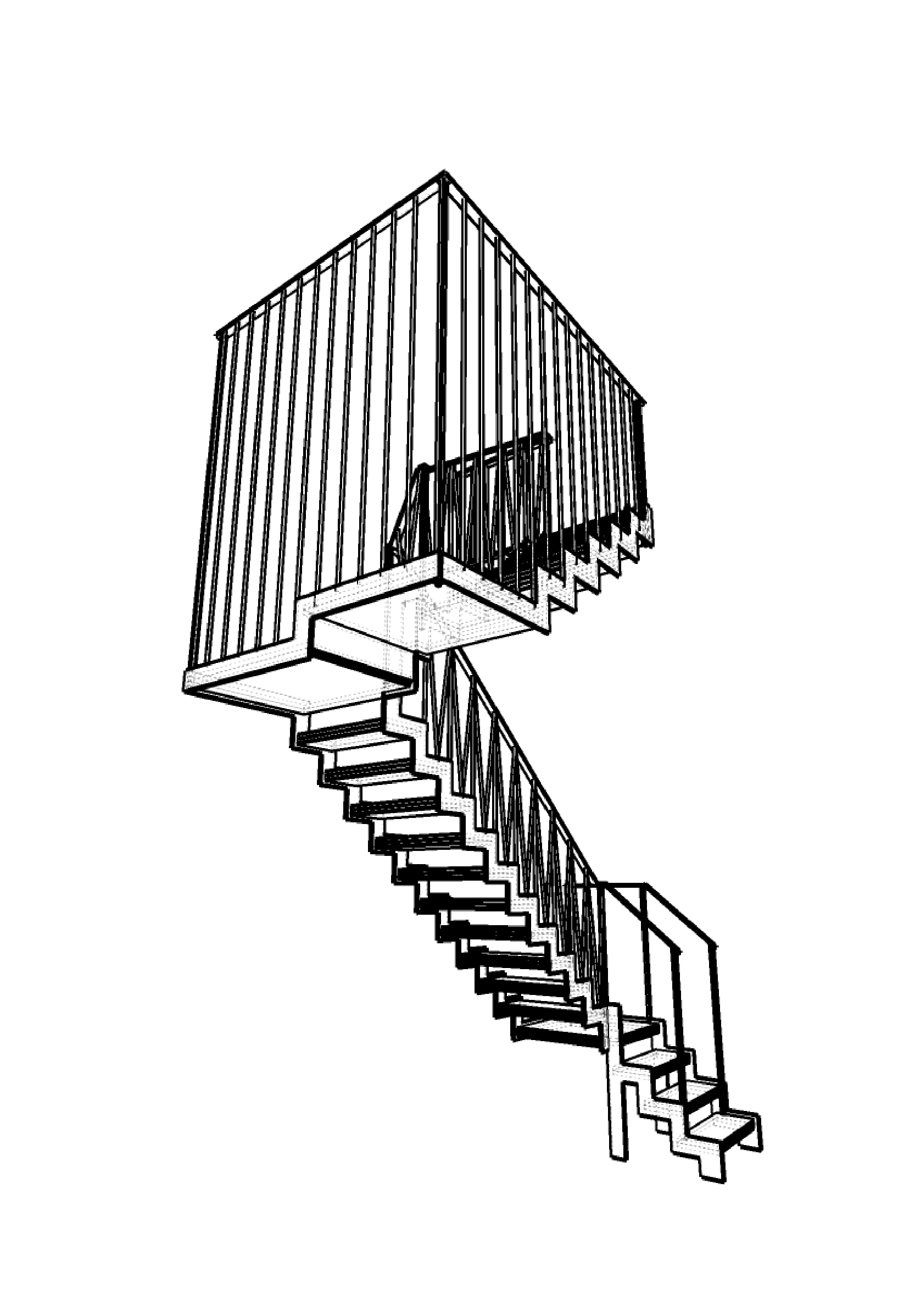 Moderne stalen trap