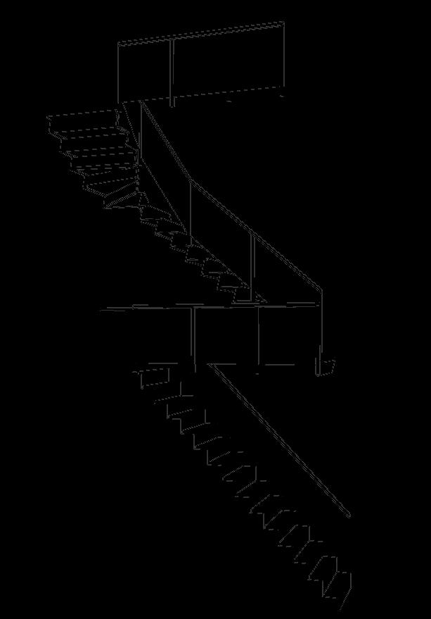 Schets moderne trap